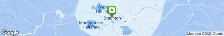 Map of Shenandoah Pizza