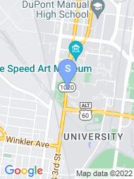 University of Louisville map