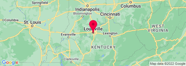 Map of Louisville, KY, US