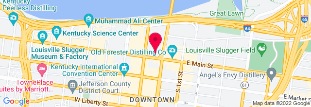 Map for KFC Yum! Center