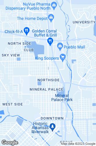 Map of Pueblo