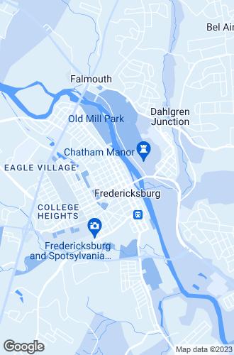 Map of Fredericksburg