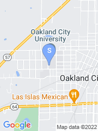 Oakland City University map