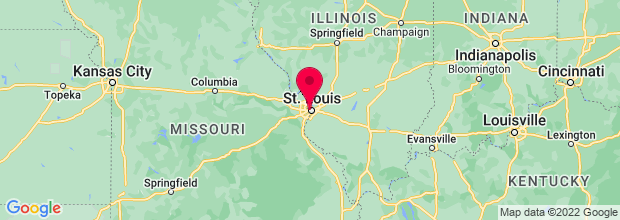 Map of St Louis, MO, US