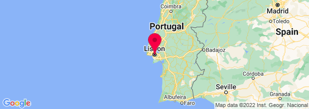 Map of Lisbon, Portugal