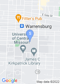 University of Central Missouri map
