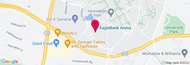 Map for Patriot Center, George Mason University
