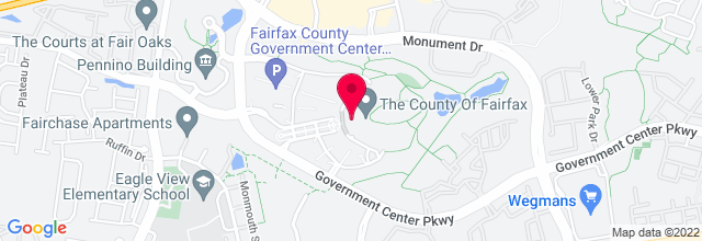 Map for Fairfax County Government Center