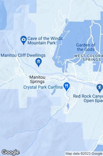 Map of Manitou Springs