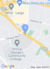 Prince Georges Community College map