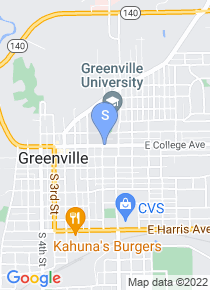 Greenville College map