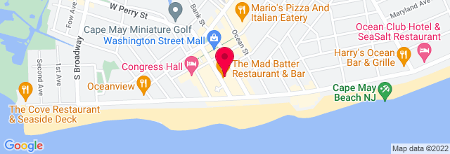 Map for Mad Batter Restaurant