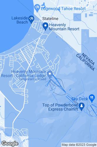 Map of South Lake Tahoe