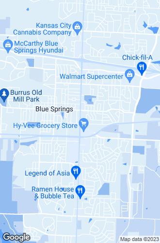 Map of Blue Springs