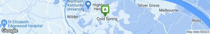 Map of Penn Station East Coast Subs