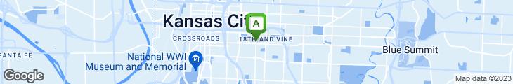 Map of Arthur Bryant's Barbeque Restaurants