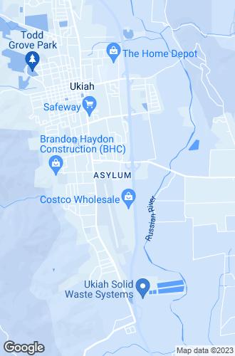 Map of Ukiah