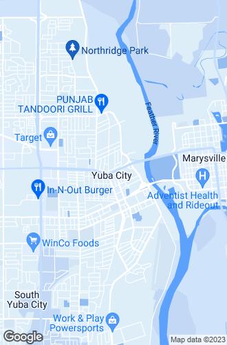 Map of Yuba City