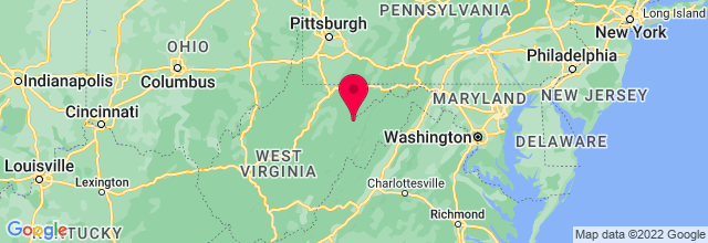 Map of Thomas, WV, US