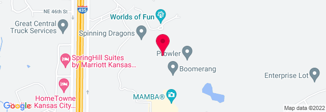 Map for Worlds of Fun