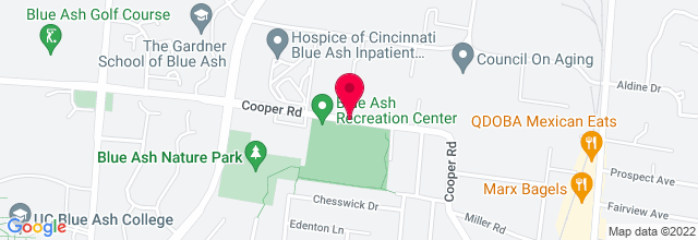 Map for Blue Ash Amphitheater