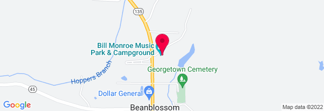Map for Bill Monroe Memorial Music Park & Campground