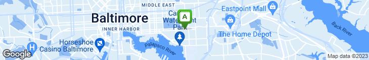 Map of Annabel Lee Tavern