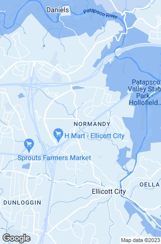 Map of Ellicott City