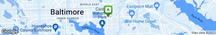 Map of Easterrn House Restaurant