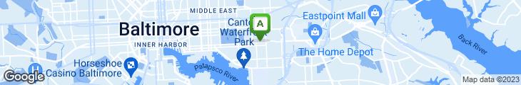 Map of G & A Restaurant