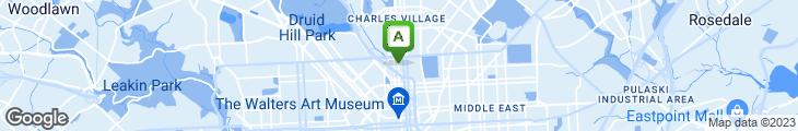 Map of Zodiac Restaurant