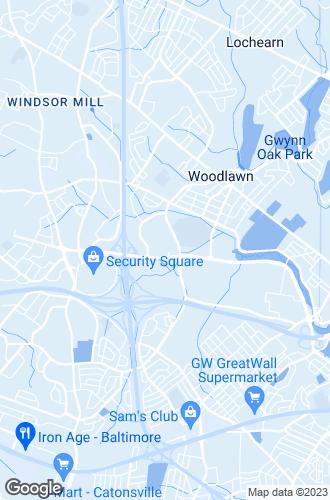 Map of Gwynn Oak