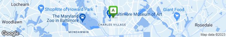 Map of Charles Village Pub
