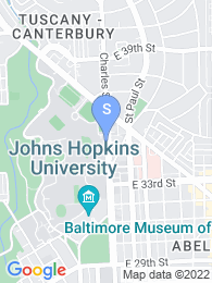 Johns Hopkins University map