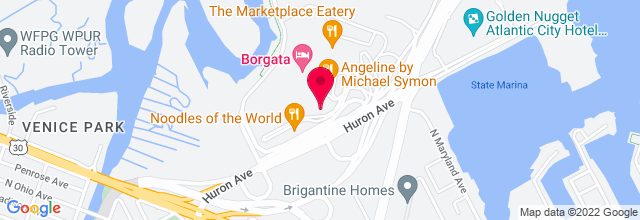 Map for Borgata Hotel & Casino