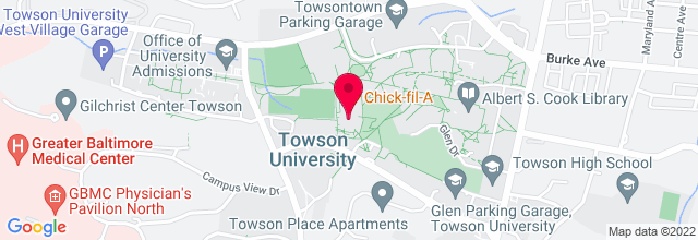 Map for Towson Center Arena