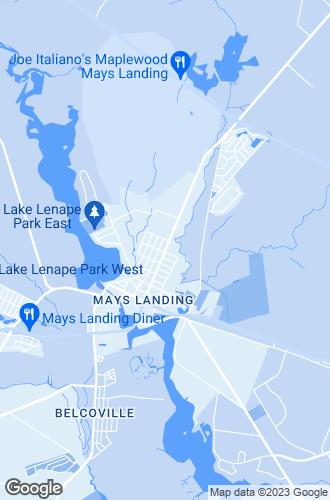 Map of Mays Landing