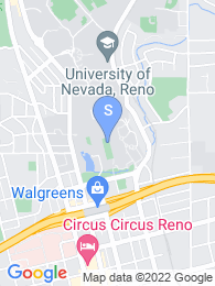 University of Nevada Reno map