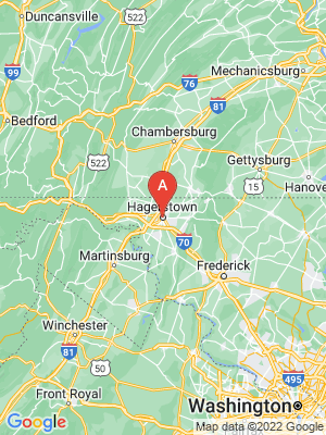 NEW HOMES map in Hagerstown, Maryland, USA