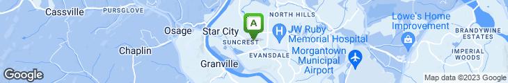 Map of Asian Garden Restaurant