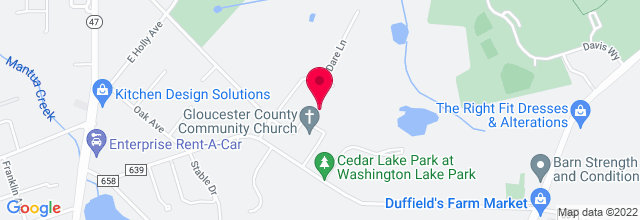 Map for Gloucester County Community Church