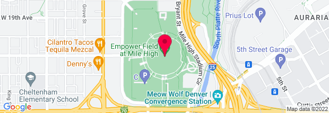 Map for Sports Authority Field at Mile High