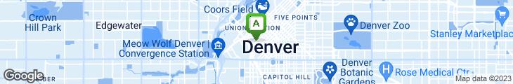 Map of Gallagher's Steak House/Denver