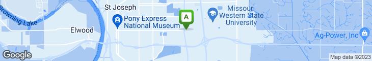 Map of La Mesa Mexican Restaurant