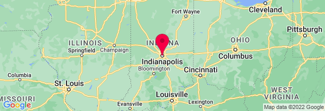 Map of Indianapolis, IN, US
