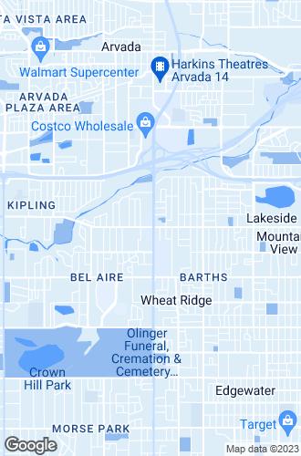 Map of Wheat Ridge
