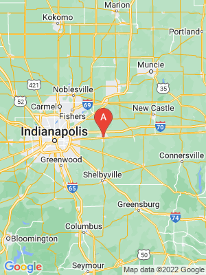 NEW HOMES map in Greenfield, Indiana, USA