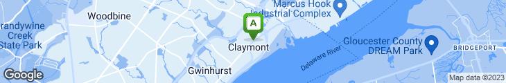 Map of Claymont Steak Shop