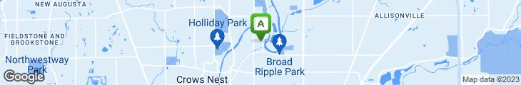 Map of Broad Ripple Brewpub
