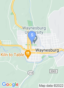 Waynesburg University map